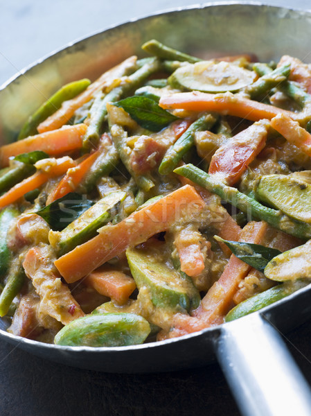 Serpenyő közelkép belső zöldségek senki bent Stock fotó © monkey_business