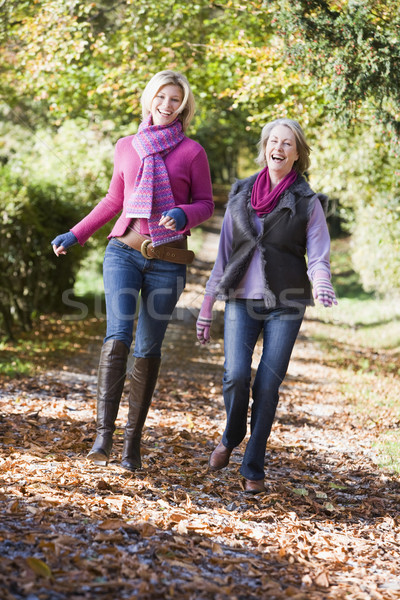 Grown up mother and daughter on walk Stock photo © monkey_business