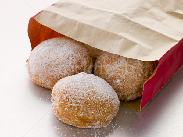 Bag Of Raspberry Jam Doughnuts Stock photo © monkey_business