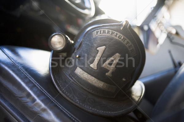 Stock photo: Vintage firefighter's helmet