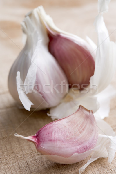 Clove And Bulb Of Garlic Stock photo © monkey_business