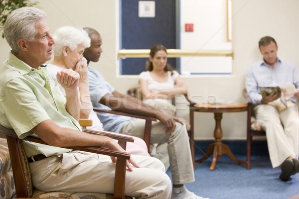 öt ember vár váróterem nő férfi orvos Stock fotó © monkey_business