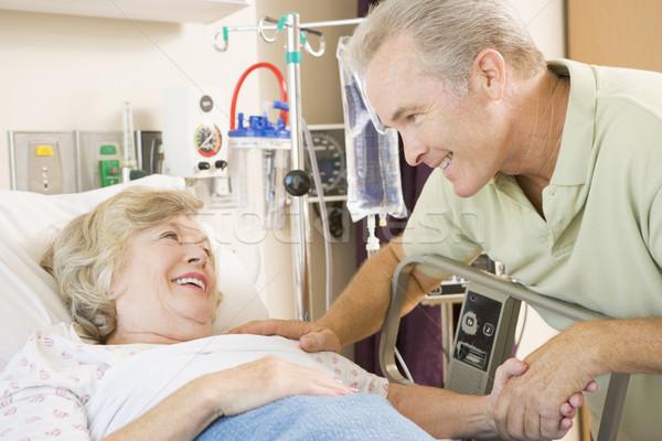 Zdjęcia stock: Matka · syn · śmiechem · wraz · szpitala · człowiek