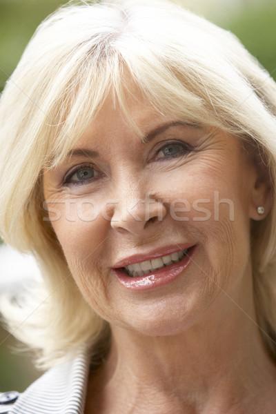 Arc portré személy mosolyog idős érzelem Stock fotó © monkey_business