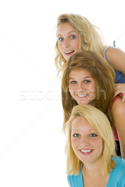 Retrato meninas adolescente cor sorridente Foto stock © monkey_business