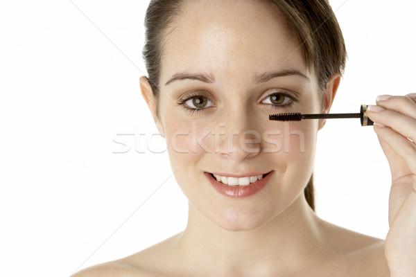 Adolescente composent femme fille beauté Photo stock © monkey_business
