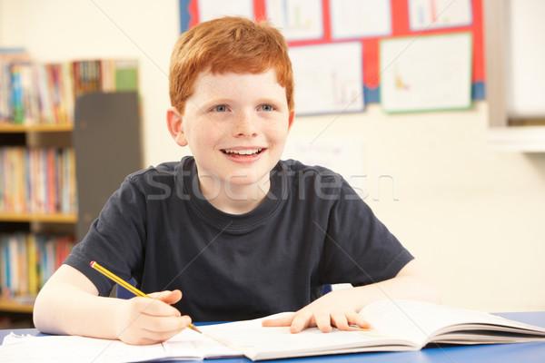 öğrenci eğitim sınıf kitap öğrenci yazı Stok fotoğraf © monkey_business
