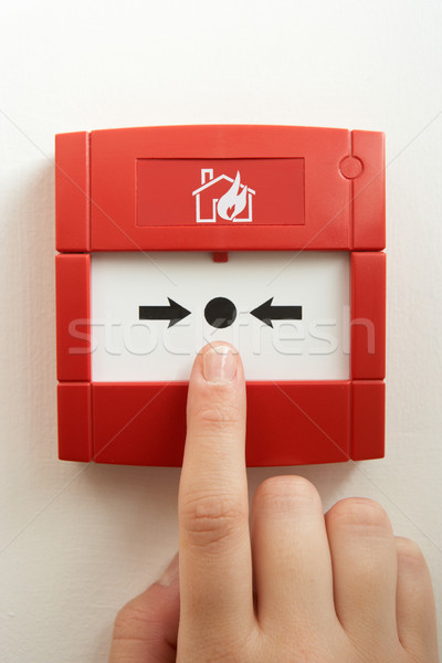 Break-glass fire alarm Stock photo © monkey_business