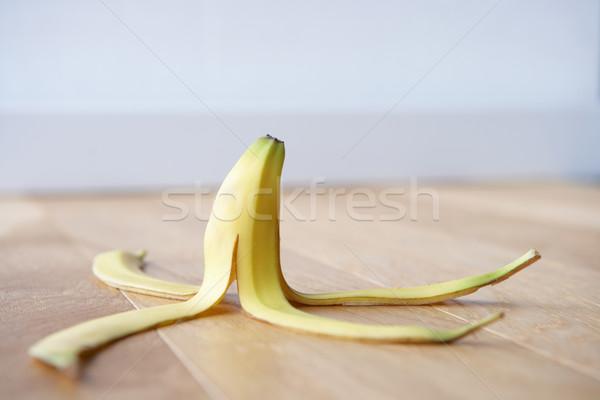 Banana skin on floor Stock photo © monkey_business