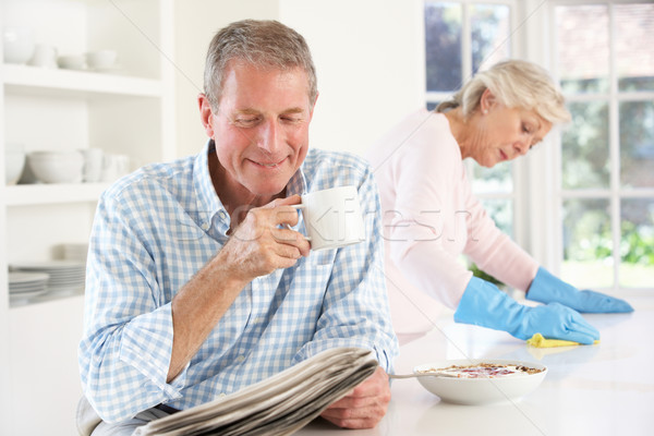 Tension between retired couple Stock photo © monkey_business