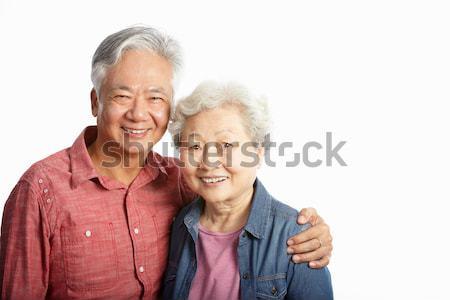 Chińczyk starszy para kobieta człowiek kobiet Zdjęcia stock © monkey_business