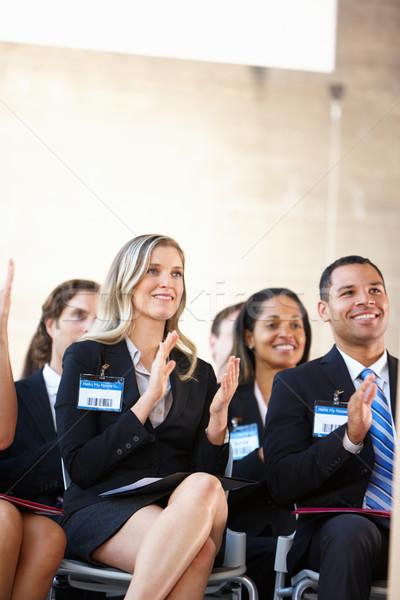 Сток-фото: прослушивании · оратора · конференции · бизнеса · женщину · женщины