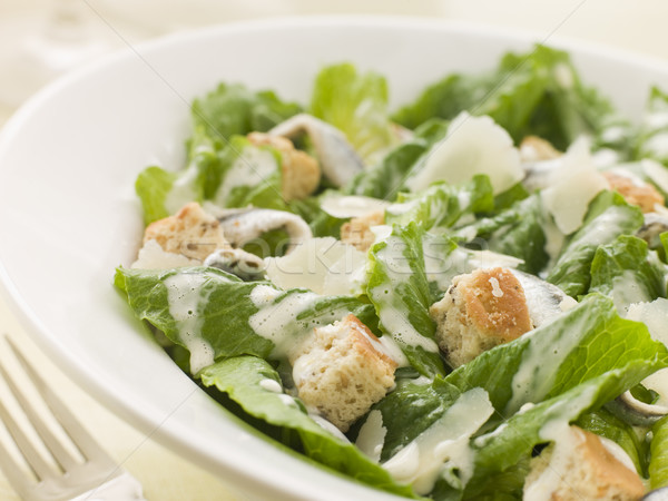 Bowl of Caesar Salad Stock photo © monkey_business