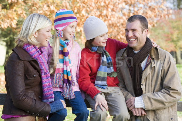 Stock photo: Family on autumn walk