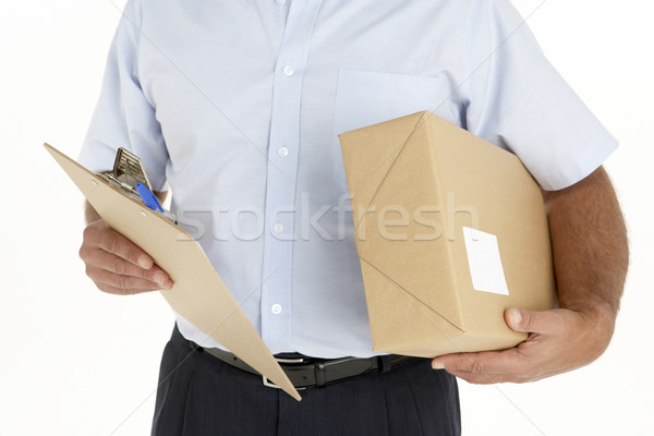 Courrier presse-papiers homme heureux Photo stock © monkey_business