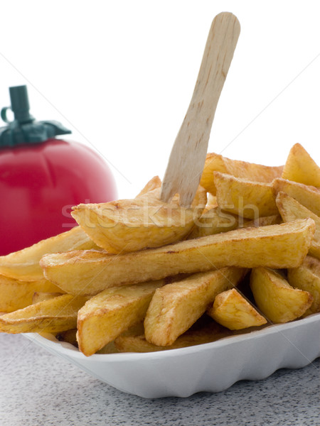 Stockfoto: Chips · dienblad · tabel · fles · studio