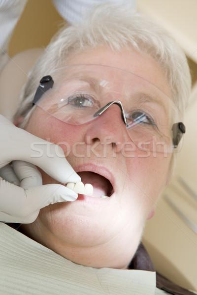 Stok fotoğraf: Dişçi · sınav · oda · kadın · sandalye