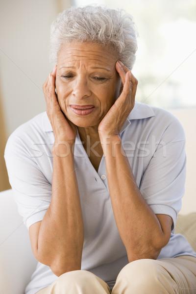 Mujer dolor de cabeza dolor altos color salud Foto stock © monkey_business