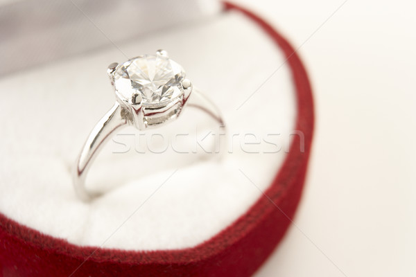 Diamond Engagement In Heart Shaped Ring Box Stock photo © monkey_business