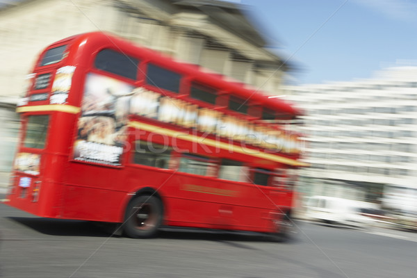 Double Decker Bus Driving Through The Streets Of London Stock photo © monkey_business