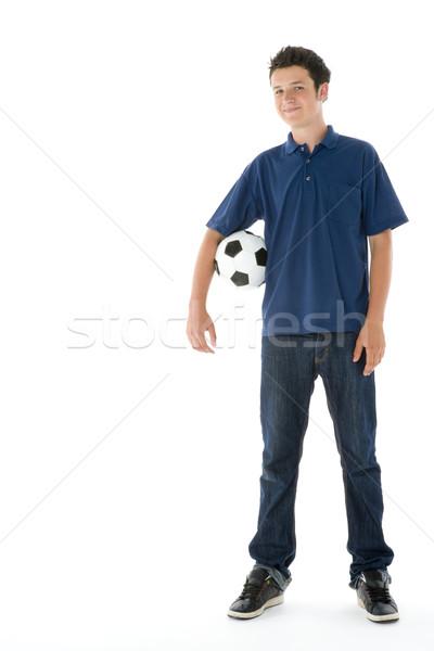Portrait ballon football couleur adolescent Photo stock © monkey_business