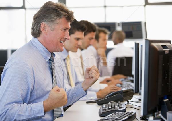 Stock lavoro computer ufficio felice imprenditore Foto d'archivio © monkey_business