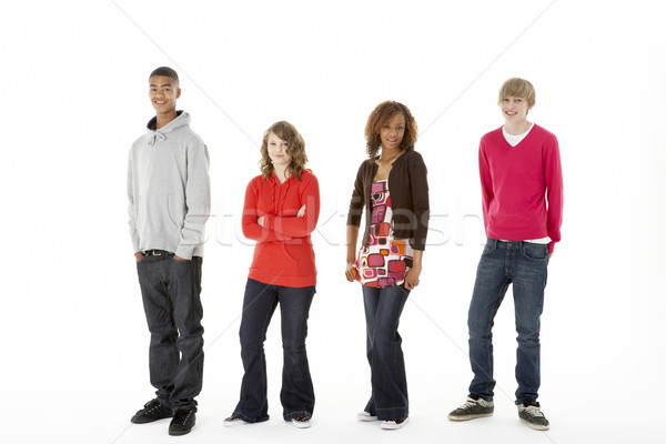Group Of Four Teenagers In Studio Stock photo © monkey_business