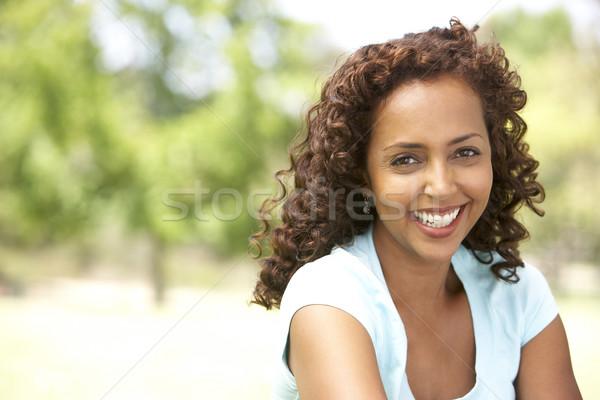 Retrato mulher jovem parque mulher jardim feminino Foto stock © monkey_business