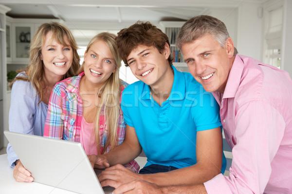 Family using laptop Stock photo © monkey_business