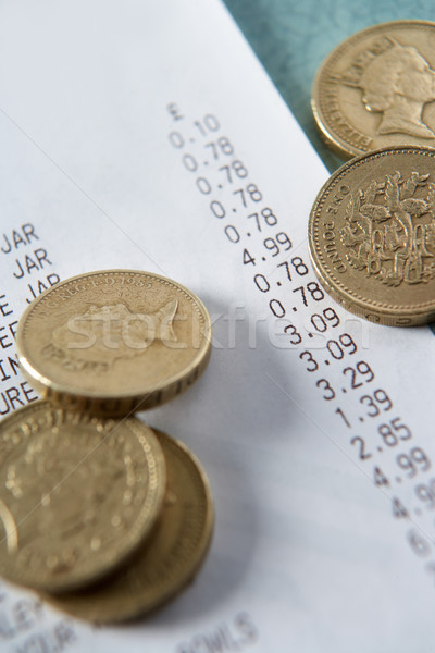 Till receipt and coins Stock photo © monkey_business