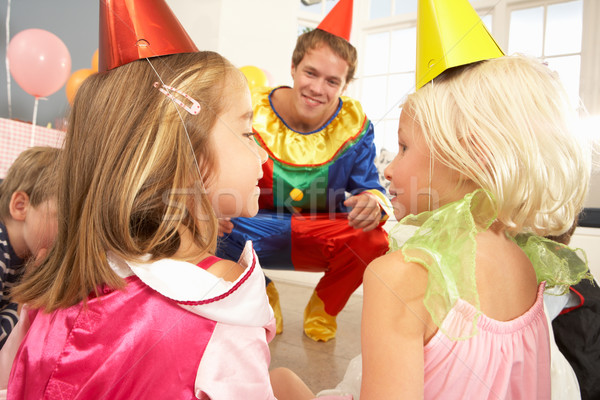Clown enfants fête heureux amis Photo stock © monkey_business