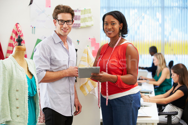 Man And Woman Meeting In Fashion Design Studio Stock photo © monkey_business