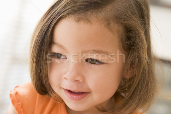 Stock photo: Young girl indoors