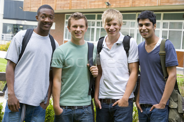 Male college friends on campus Stock photo © monkey_business