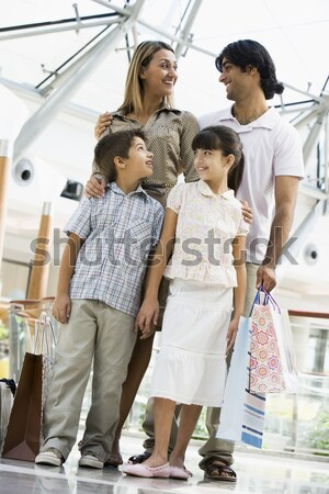 A Middle Eastern family in a shopping mall Stock photo © monkey_business