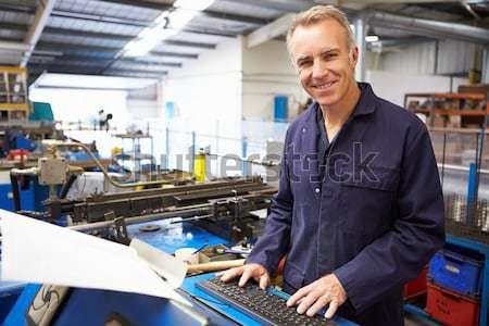 Machinist working on machine Stock photo © monkey_business