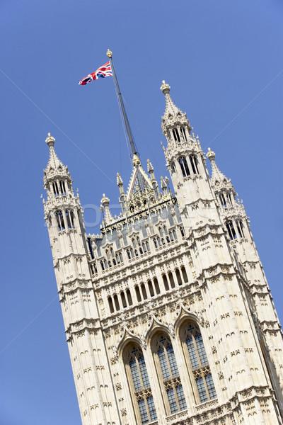 Zászló repülés Westminster apátság London Anglia Stock fotó © monkey_business