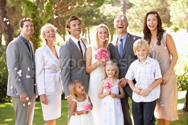 Stockfoto: Familie · groep · bruiloft · vrouwen · zomer · mannen