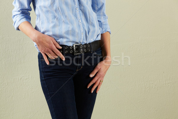 Stock photo: Detail Studio Shot Of Relaxed Middle Aged Woman