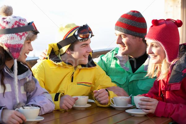 Familie genieten warme drank meisje kinderen Stockfoto © monkey_business