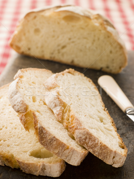 Loaf and Slices of American Sour Dough Bread Stock photo © monkey_business