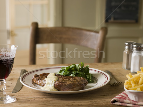 Steak Frite with Bearnaise Sauce Stock photo © monkey_business