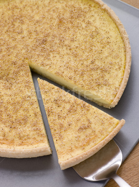 Egg Custard Tart With Nutmeg Stock photo © monkey_business