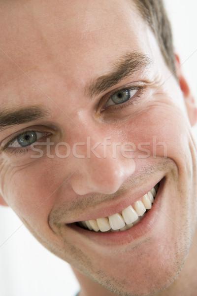Сток-фото: голову · выстрел · человека · улыбаясь · лице · портрет
