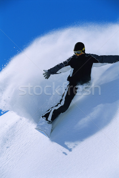 Snowboard mujer vacaciones vacaciones color Foto stock © monkey_business