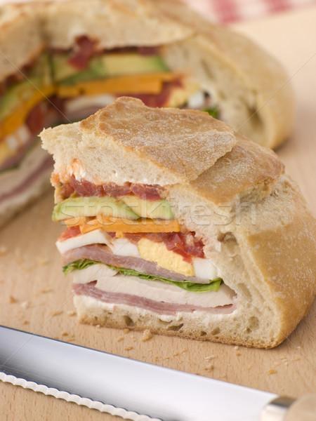 Stuffed Loaf Sandwich Stock photo © monkey_business