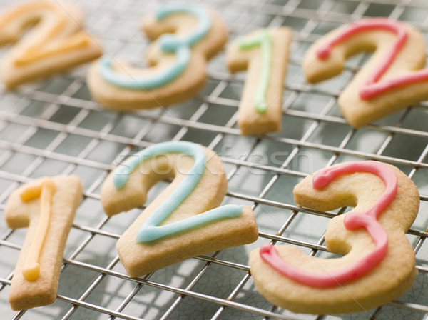 Number Shortbread Biscuits with Icing Stock photo © monkey_business