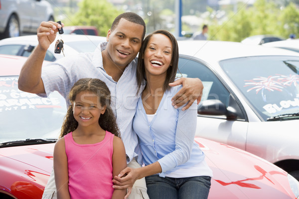 Family collecting new car Stock photo © monkey_business