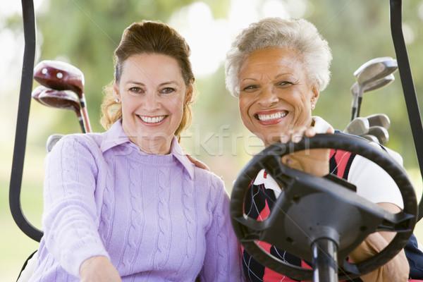 портрет два женщины гольф спорт друзей Сток-фото © monkey_business