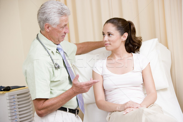 Doctor giving woman checkup in exam room Stock photo © monkey_business